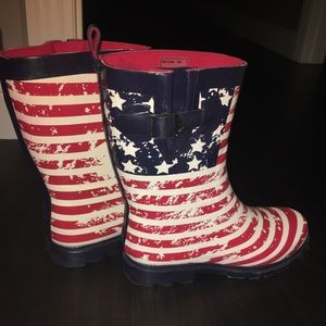 American Flag Rain Boots